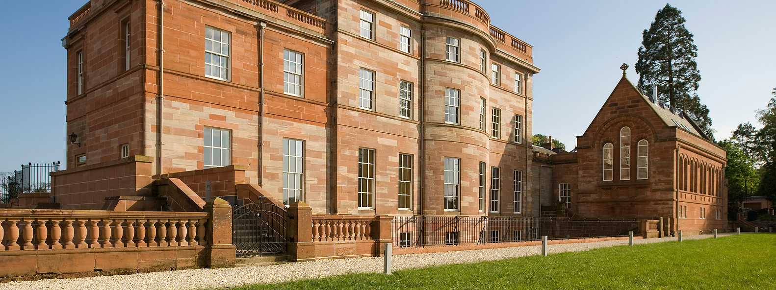 Scottish UK Architects ICDP coodham restoration conservation arhcitecture design red sandstone