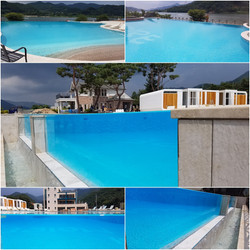 Moire478 Swimming Pool Acrylic