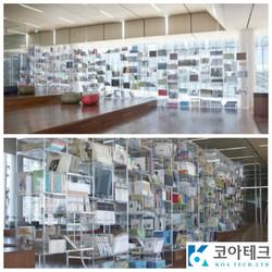 Acrylic book shelves
