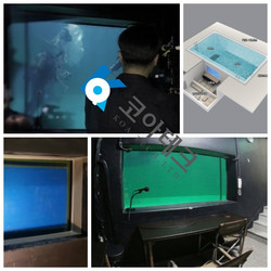 Suzax Korea diving pool window