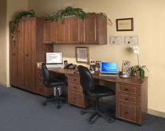 Warm Cognac Double Hall Office in Raised