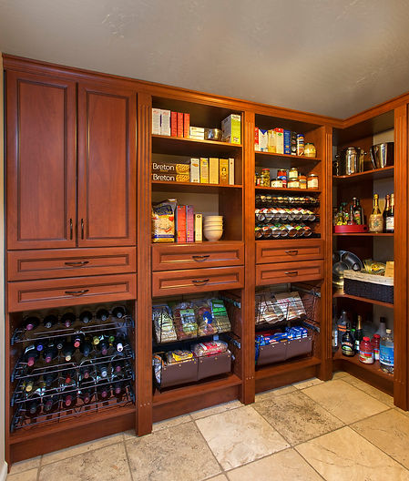 Warm Cognac Pantry in Premier with Wine