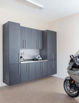 Granite Doors-Stainless with Gray Slatwa