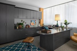 Licorice Office Flat Panel with Stool-Ju