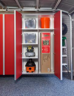Red Cabinets w Vertical Divider-Adjustab