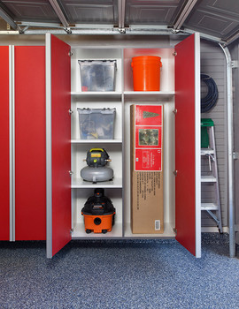 Red Cabinets w Vertical Divider-Adjustab