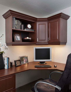 Mahogany Office in Raised Panel with Cro