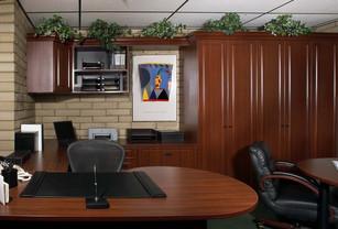 Mahogany Raised Panel Brick Office Swens
