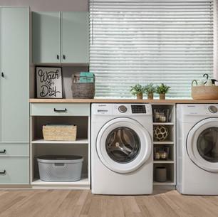 White and Dew Slim Shaker Laundry Room J