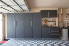 Granite Tall Cabinets with Workbench-201