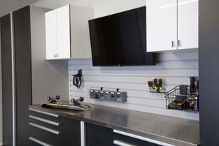Basalt Cabinets Angle Workbench with Ska