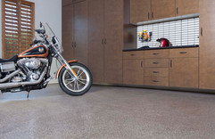 Mojave Flooring with Bronze Cabinets and
