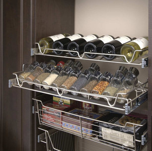 Copy of Satin Nickel Slide Out Wine-Spic