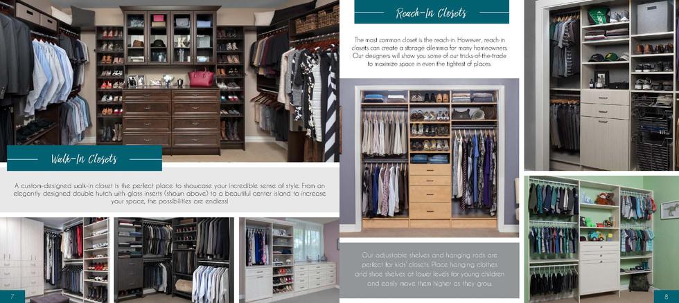 Walk-in & Reach-in Closets Designed