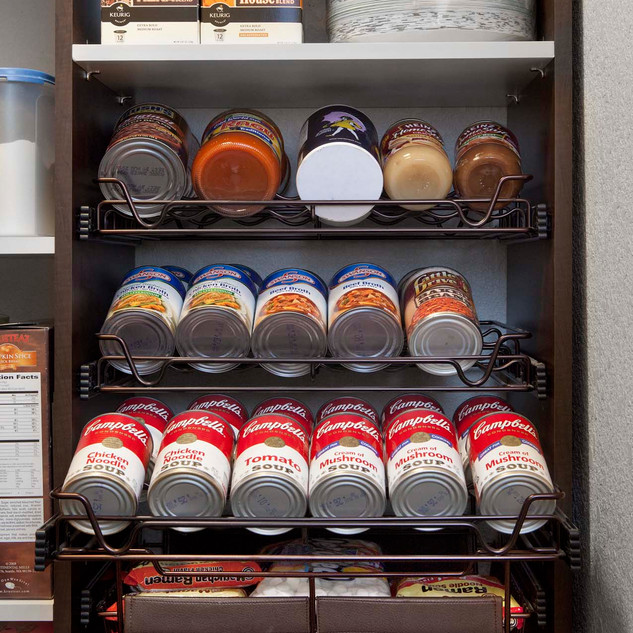 Bronze Sliding Spice Rack with Cans-Eric