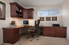 Mahogany Office in Raised Panel Wide Sho