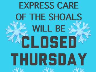 Closed Thursday