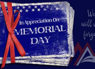 OPEN on Memorial Day