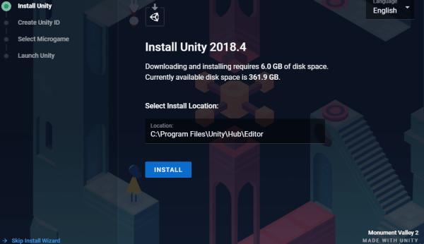 Install Unity Wizard