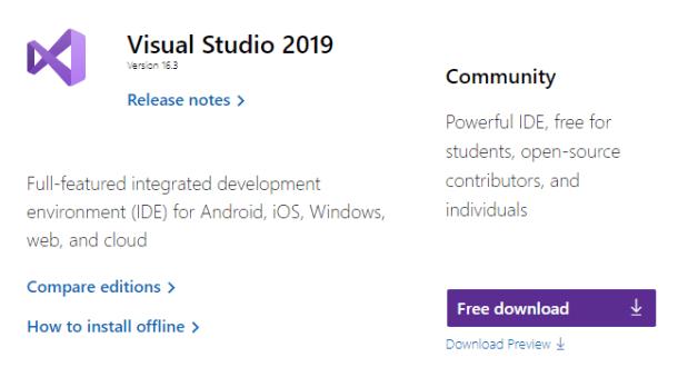 Install Unity Visual Studio
