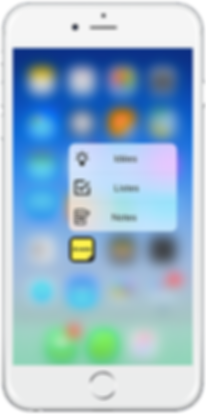 Appro A-note 3D touch shortcut
