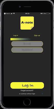 Appro A-note Connection menu