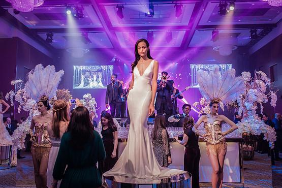 Kleinfeld's model... dress by Pnina Tornai