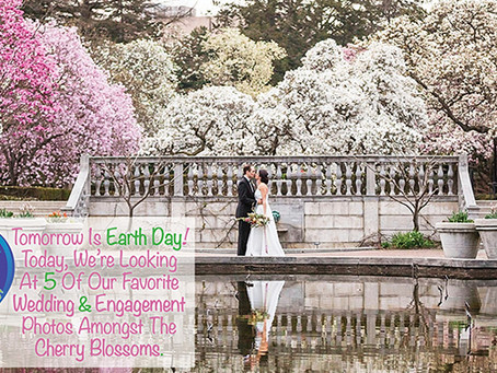 5 Of Our Favorite Wedding & Engagement Photos Amongst The Cherry Blossoms