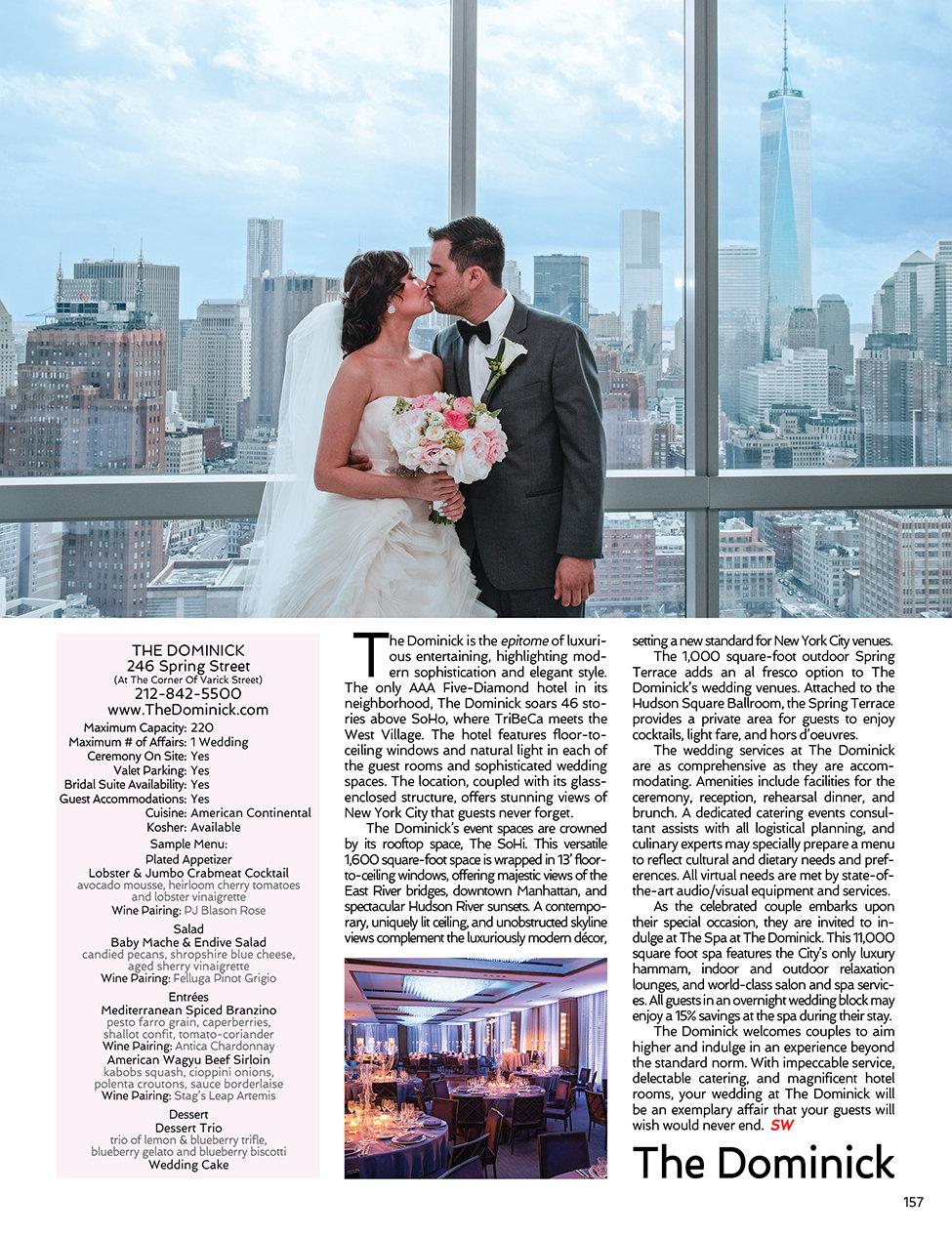 Sophisticated Weddings New York Trump SoHo