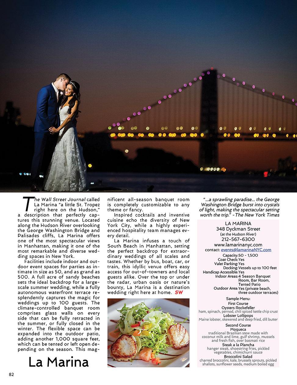 sophisticated weddings new york la marina