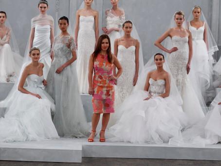 BRIDAL MARKET: MONIQUE LHUILLIER SPRING 2015 RUNWAY