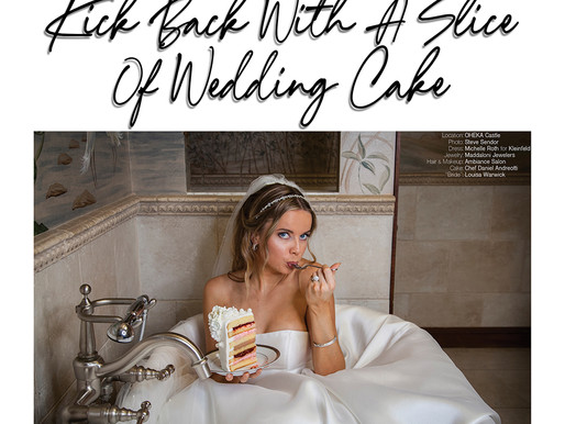 Kick Back With A Slice Of Wedding Cake