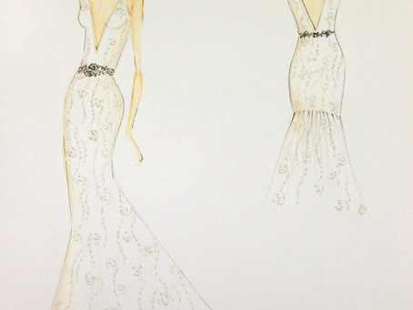 DESIGNERS GO FROM PENCIL & PAPER TO THE RUNWAYS OF THE SPRING 2014 BRIDAL MARKET