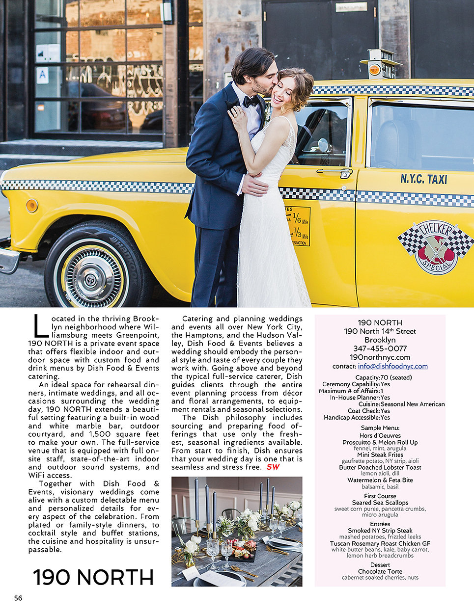 Sophisticated Weddings New York 190 North