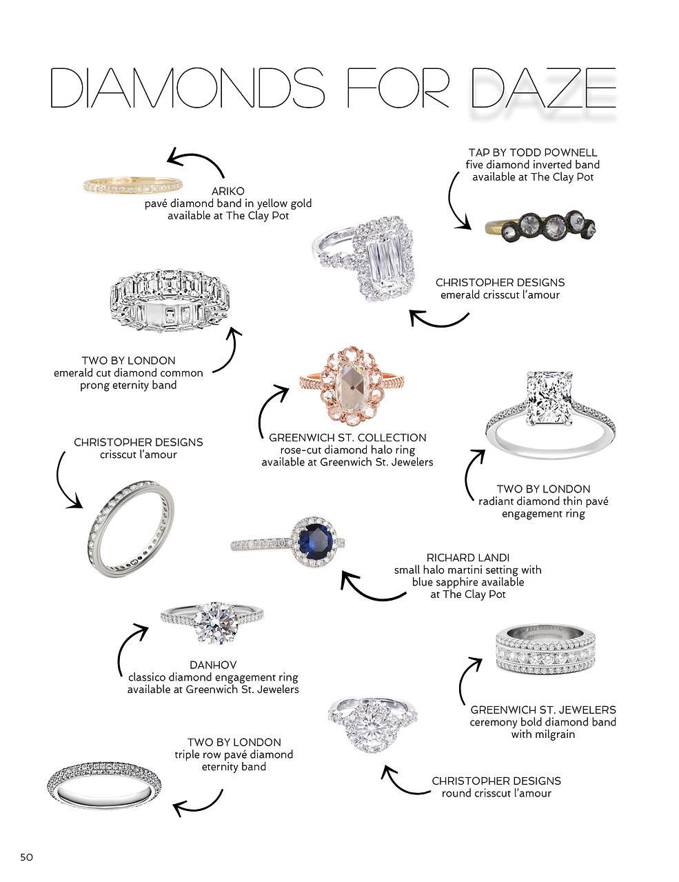 Sophisticated Weddings New York Diamonds For Daze Greenwich St Jewelers Christopher Designs Clay Pot Two By London