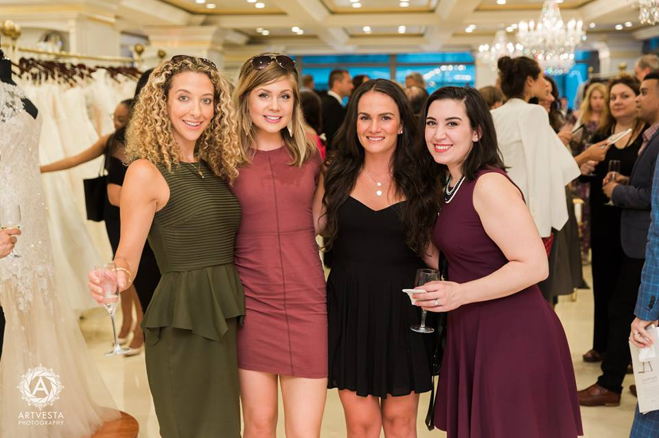 From Left: Danielle Bobish and Maddie of Curtain Up Events, Amy and Madison Lee of Madison Lee's Cakes