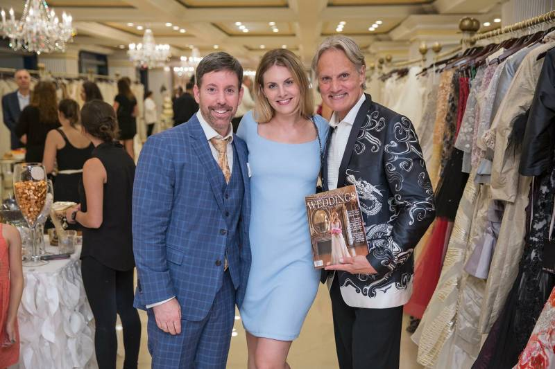 "Sophisticated Weddings Publisher Steven Sendor with Editor-in-Chief Samantha Sendor and Monte Durham of ""Say Yes To The Dress: Atlanta"""