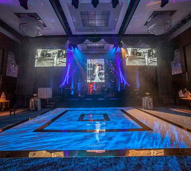 AMAZING custom dance floor by HiTECH Events