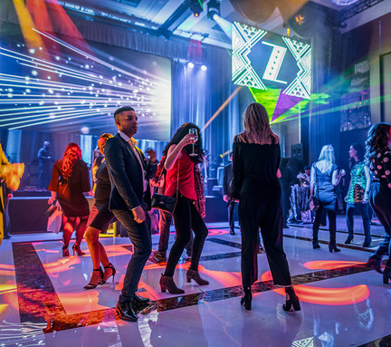 Check out that custom dance floor by HiTECH Events!