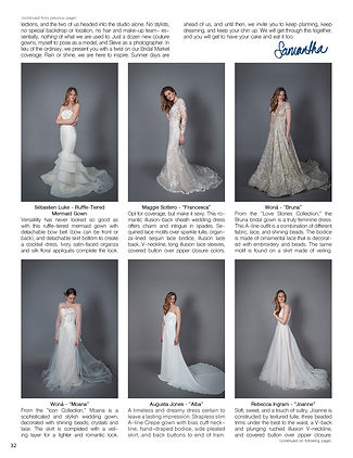 """""""Sophisticated Weddings"""" Editor-in-Chief Samantha Sendor in """"Fashion In The Face Of Quarantine"""""""