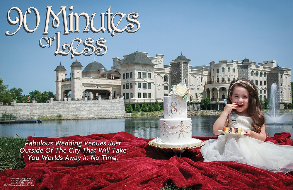 Pictured: The Legacy Castle, My Daughter's Cakes, Kleinfeld Bridal Party, Leah DiGuilio for Facez