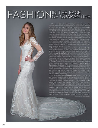 """Sophisticated Weddings"" Editor-in-Chief Samantha Sendor in ""Fashion In The Face Of Quarantine"""