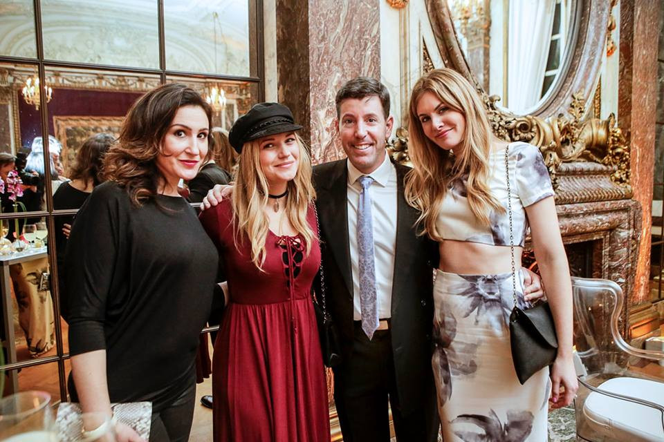 From Left: Bride-to-be Ali, newly/actress Vanessa Ray, Publisher Steven Sendor, Editor-in-Chief Samantha Sendor