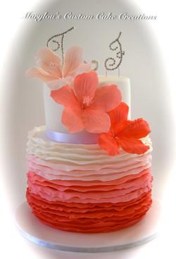 Hibiscus Flower Cake
