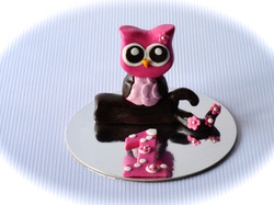 Owl cake topper with number one