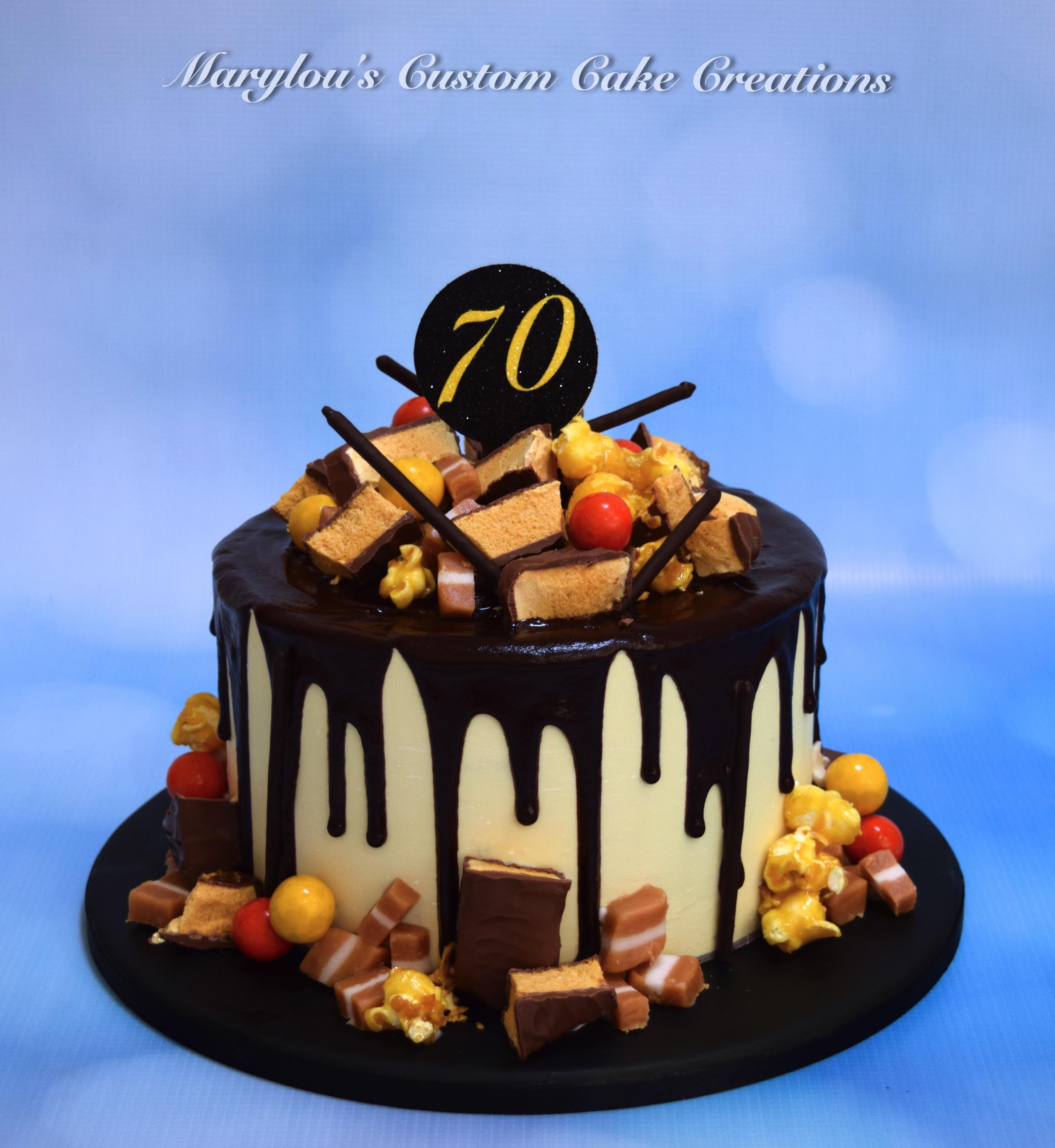 Violet Crumble Drip Cake