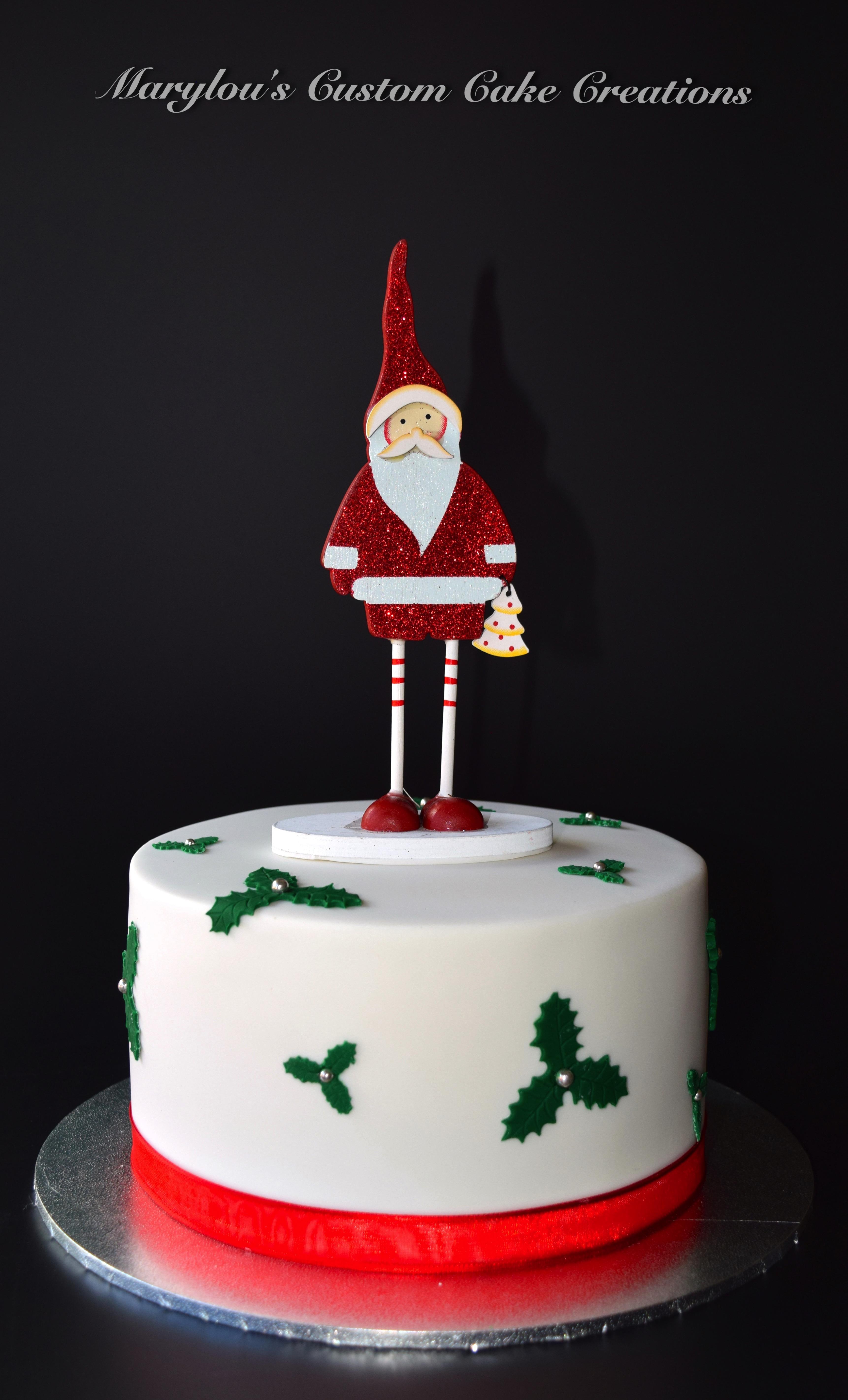 Santa Xmas Fruit Cake