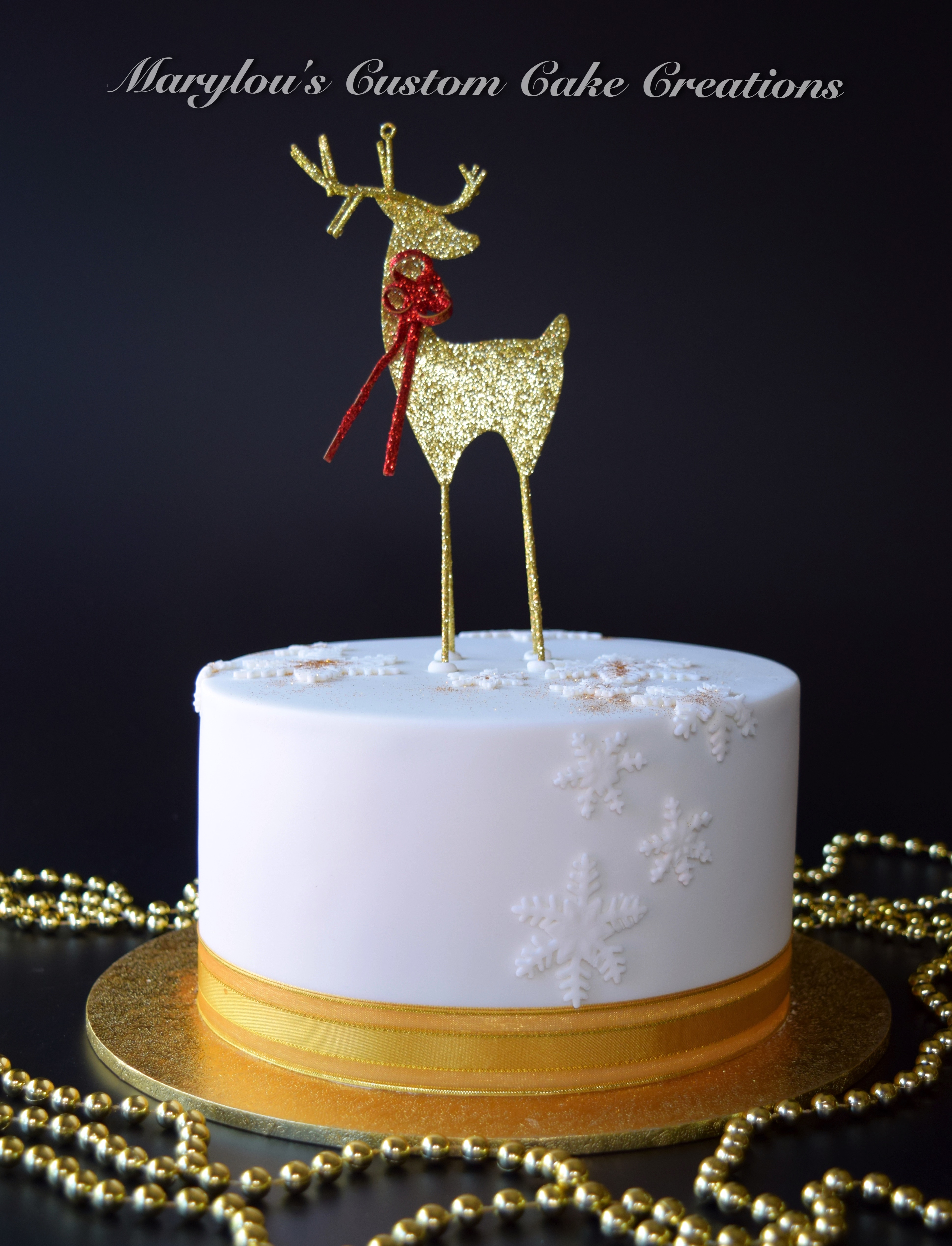 Rain Deer Xmas Cake