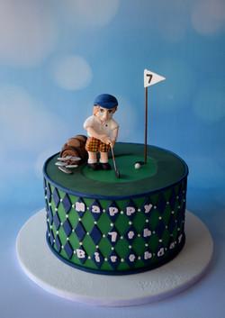 Little Golfer Cake