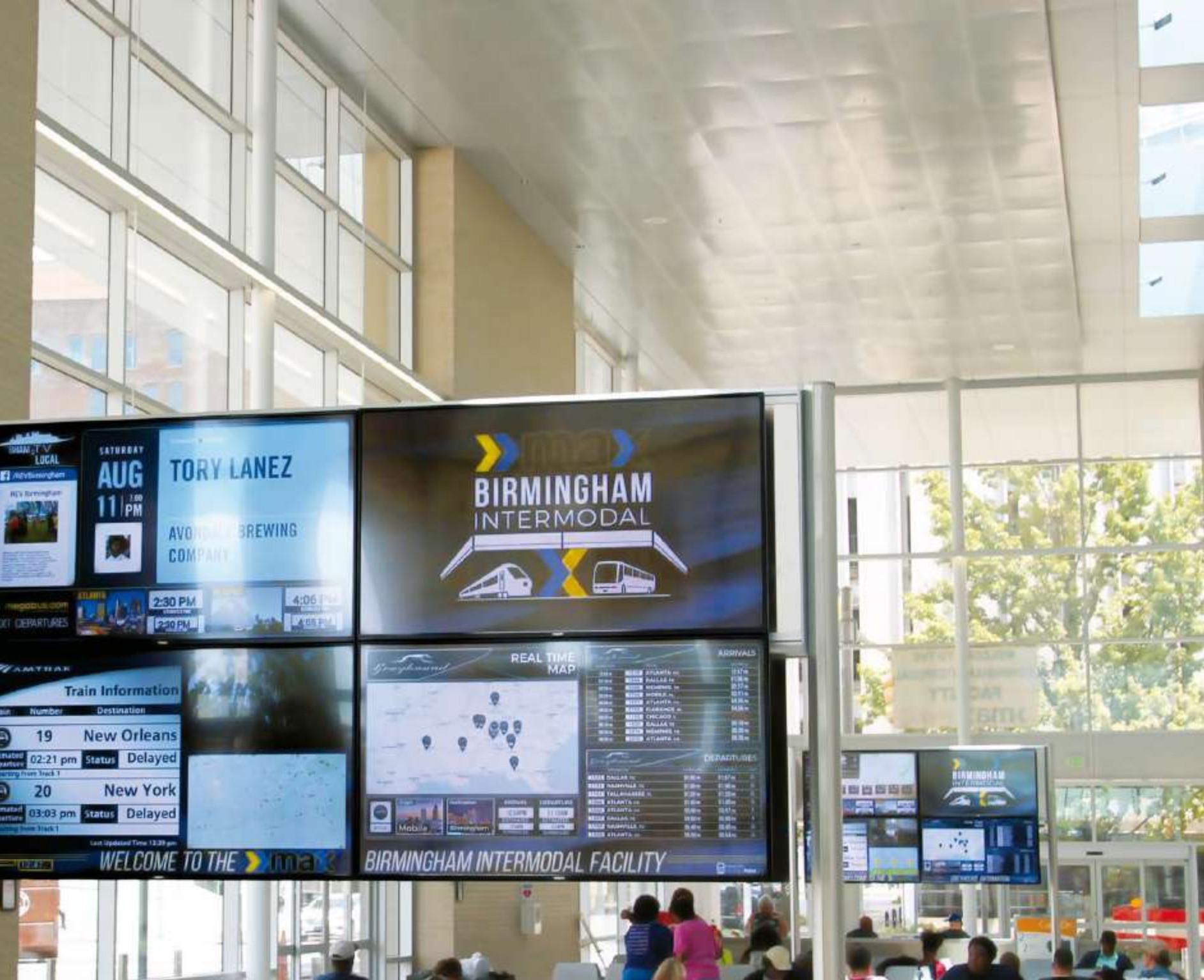 Videowall Busbahnhof
